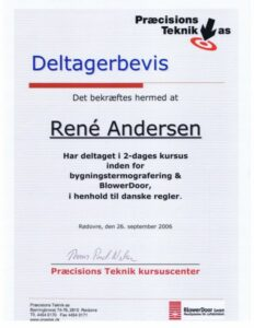 Deltagerbevis thermografi