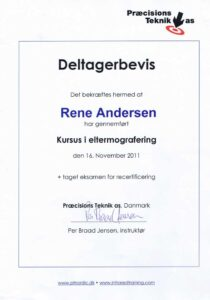 Deltagerbevis Elthermografi